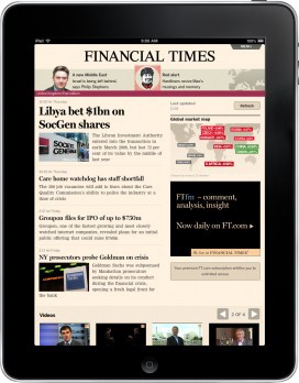 El FT en el iPad usando el browser