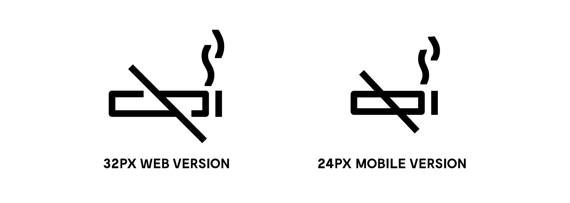 Reducing complexity and tightening up shapes in a mobile-only icon