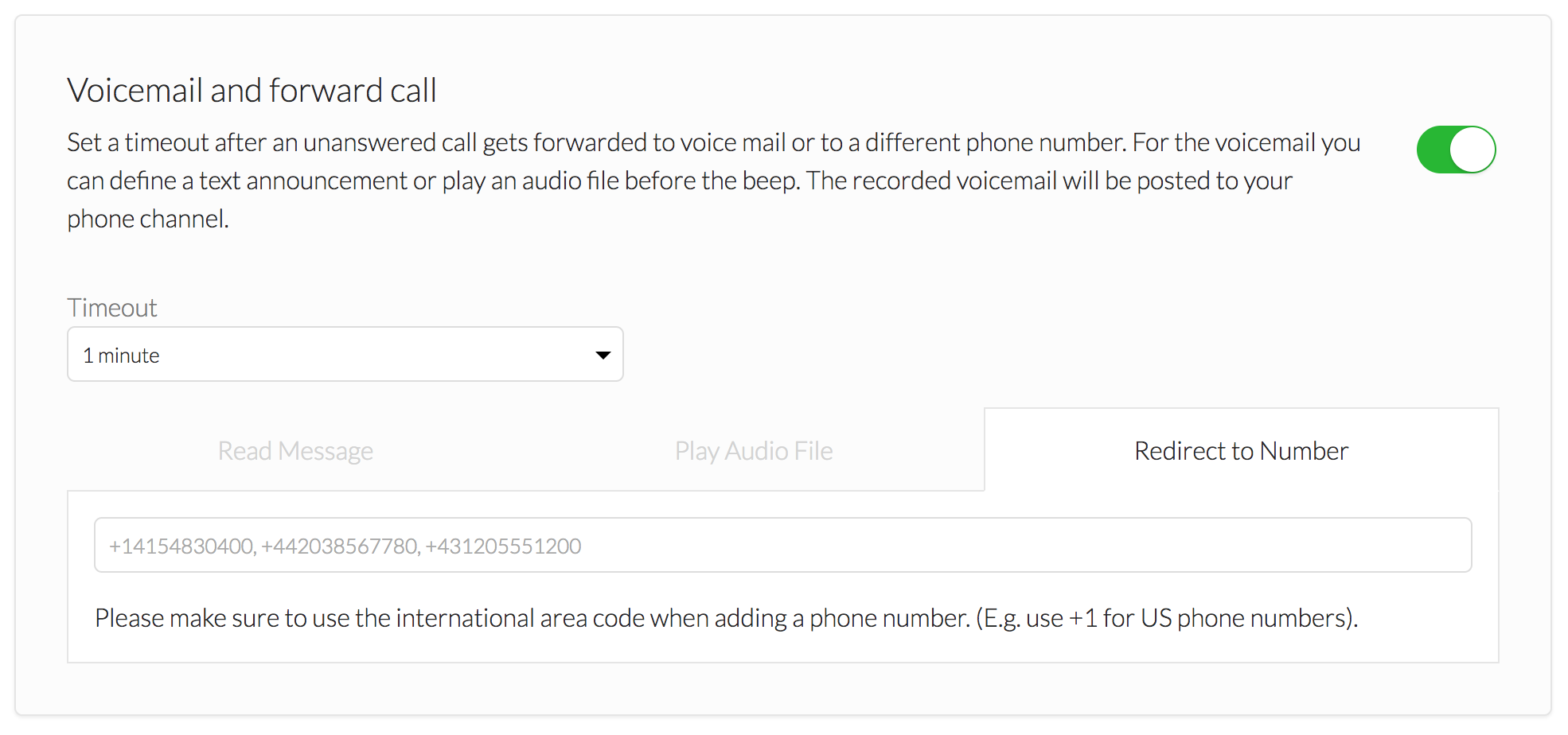 Make sure you are adding the international area code when putting in your phone number!