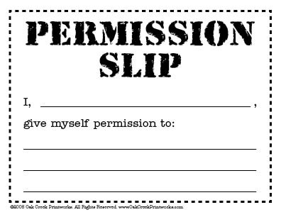 Permission Slip Image Gallery  Hcpr