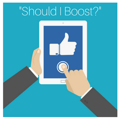 Boost your content in facebook ads