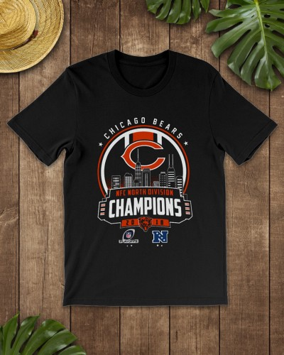c8044f64449c5 Chicago bears NFC North Division Champion 2018 Playoffs shirt ...