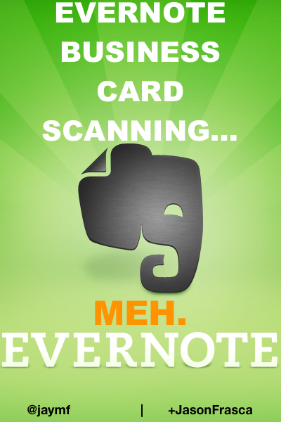 Evernote business card scanning now baked in but they left out the business card scanning with evernote reheart Choice Image