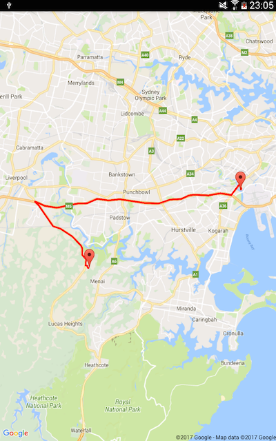 route to sydney opera house