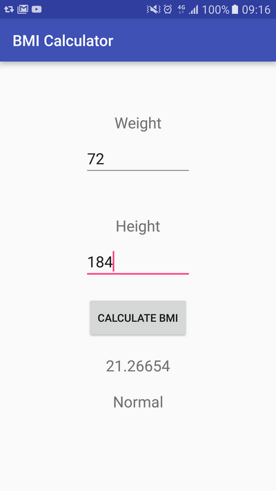 Learn To Create A Bmi Calculator App For Android Sylvain Saurel