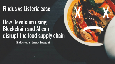 Findus vs Listeria case, how Devoleum using Blockchain and AI can disrupt the food supply chain
