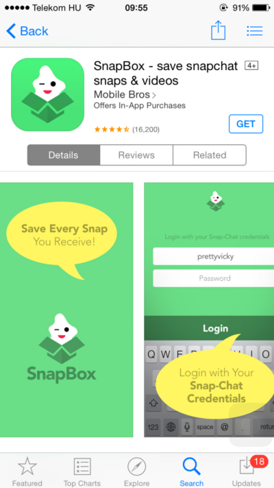 Additional apps for Snapchat
