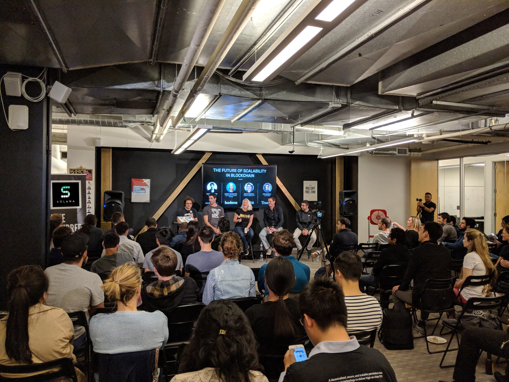 We had 150+ folks with panelists from Dfinity, RadarRelay, Kadena, Solana, and TrueBit.
