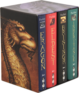 This image depicts the completed box-set of the Inheritance Cycle as described within my blog. It consists of four books; Eragon, Eldest, Brisingr, and Inheritance.