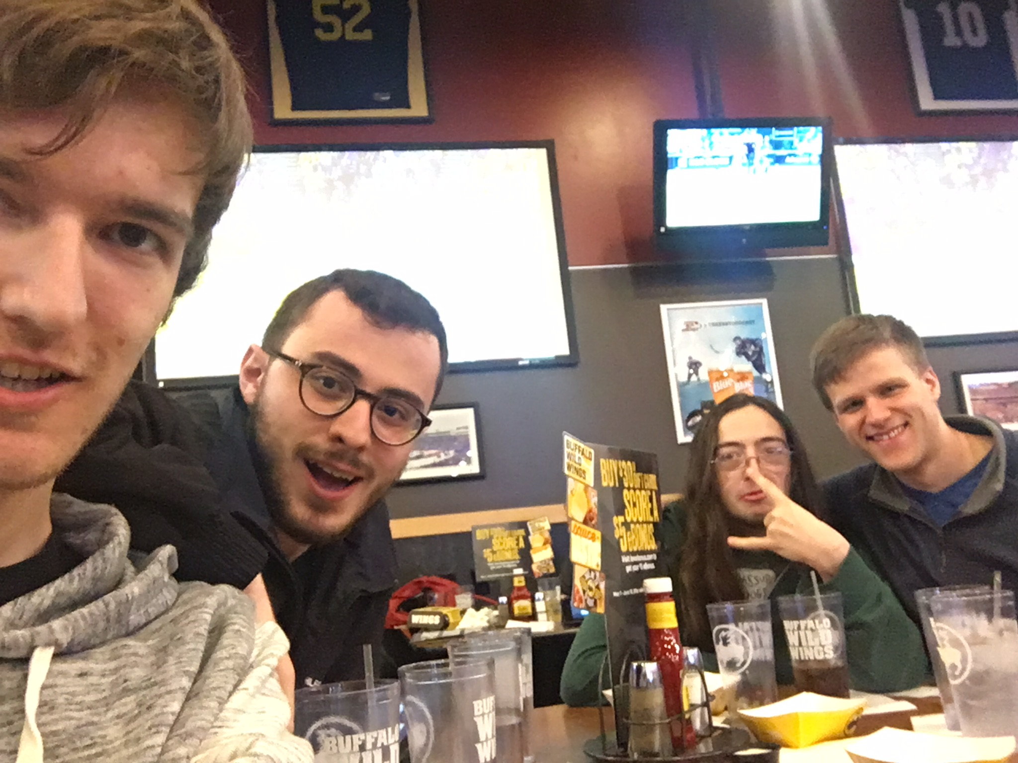 Buffalo Wild Wings with my good friends