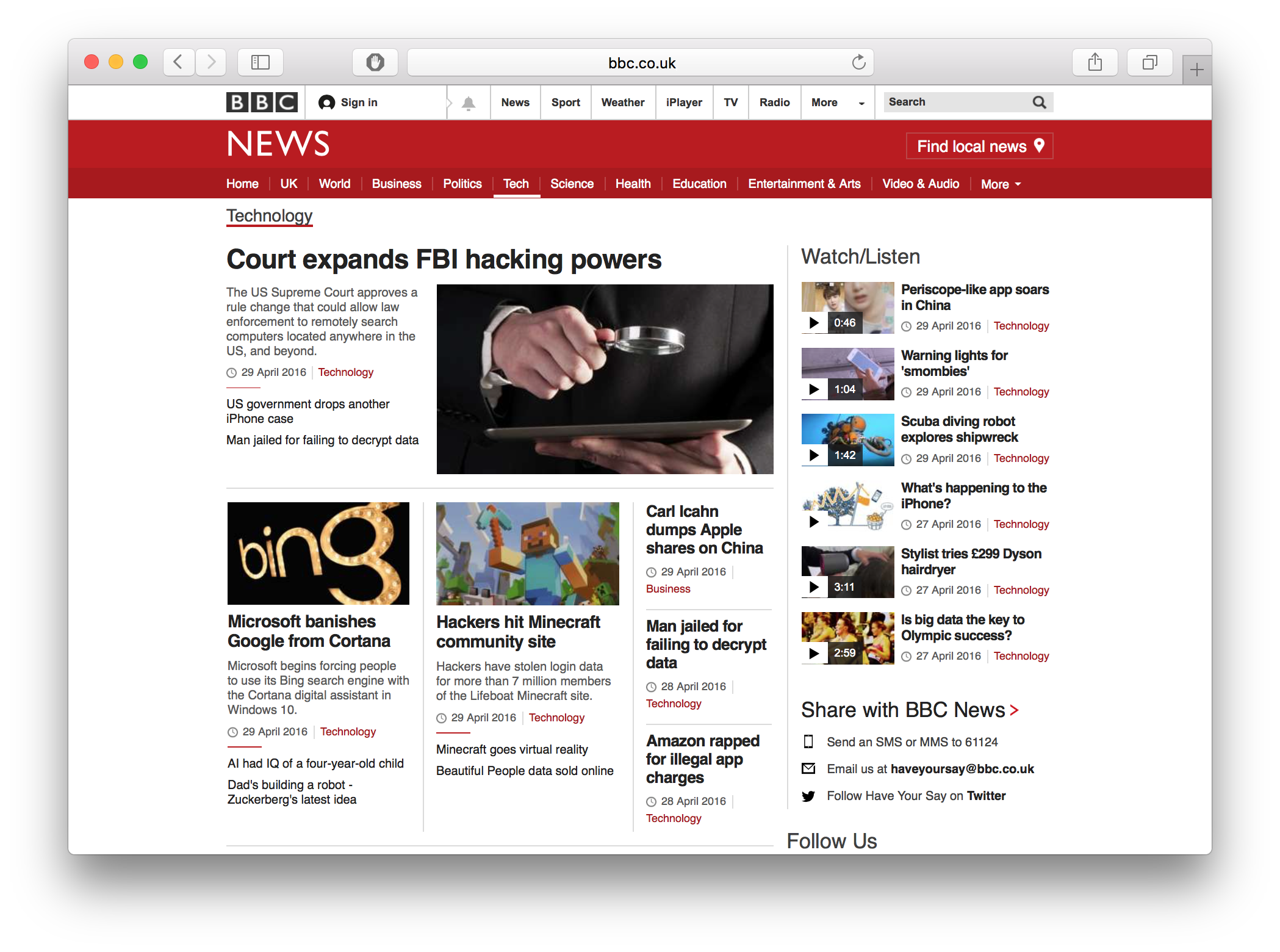 News sites like the BBC might use an API — for example to get back a list of most recent news stories — each news story is stored someplace else