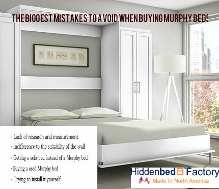 The Biggest Mistakes to Avoid When Buying Murphy Beds