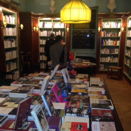 Visitors browse the shelves.