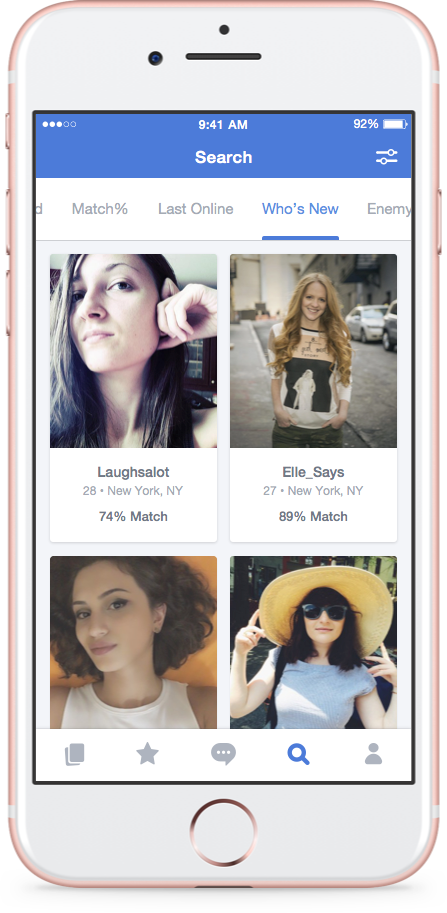 Okcupid user search
