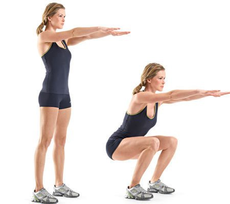 Image result for Bodyweight Squats exercise