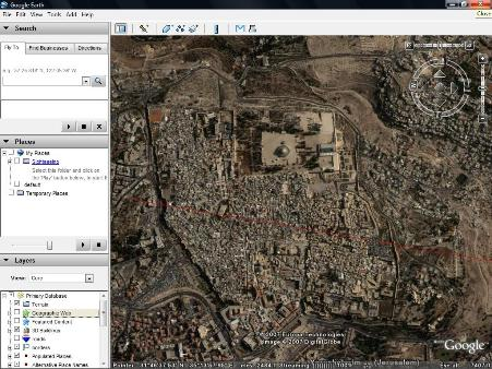 Is google wired for geopolitics miranda bogen medium google earth map shows temple mount on arab side of jerusalem source gumiabroncs Gallery
