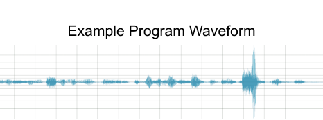 Example program waveform