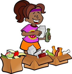 image of woman recycling