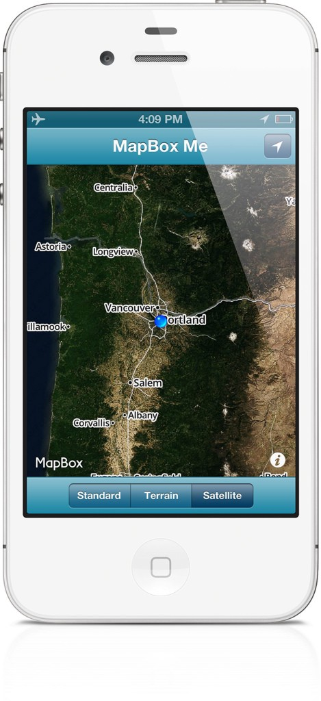 Satellite Imagery Caching With The IOS SDK Points Of Interest - Actual satellite images