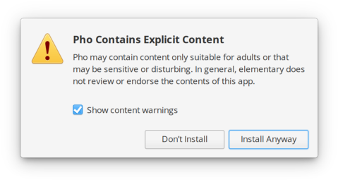 Content warnings in AppCenter