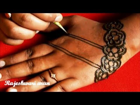 Mehndi Art Step By Step : Easy latest mehndi design for hands u simple arabic art