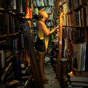 A girl trying to decide which literary life she'll immerse herself in next.