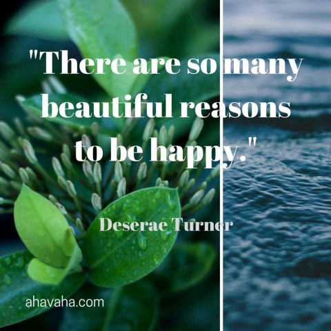 Deserae Turner Reasons to be Happy Quote