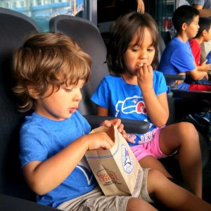 blue jays game with kids