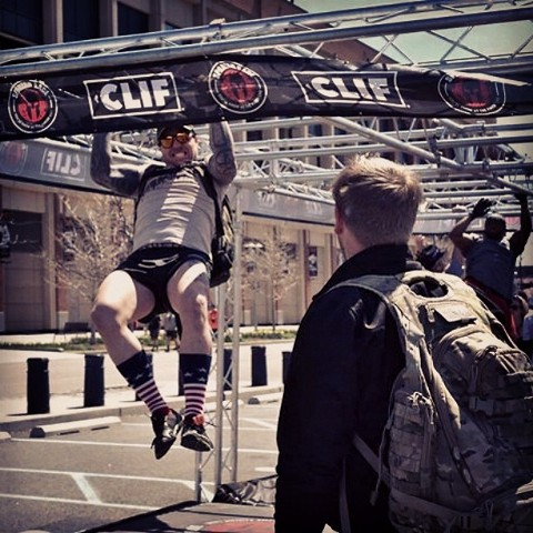 Spartan Race CitiField Monkey Bars with Ruck