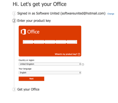 office 2016 code activation