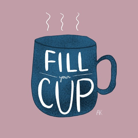 Fill your cup illustration