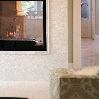 Have You Ever Thought Of Using Mother Pearl Tiles On Your Fireplace Add A Touch Glamour To Fireplaces