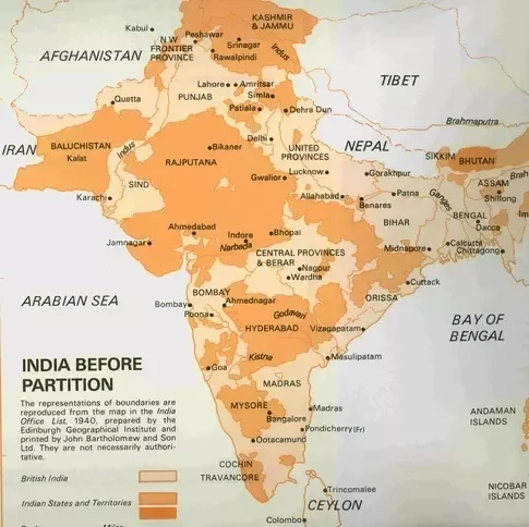 What Prompted The Creation Of Various States Within India - Map of united provinces india