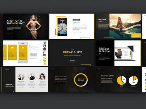 The 50best places to download free business powerpoint templates behance boasts some of the best design talents on the planet as you will be able to see in their freely downloadable powerpoint templates wajeb Choice Image