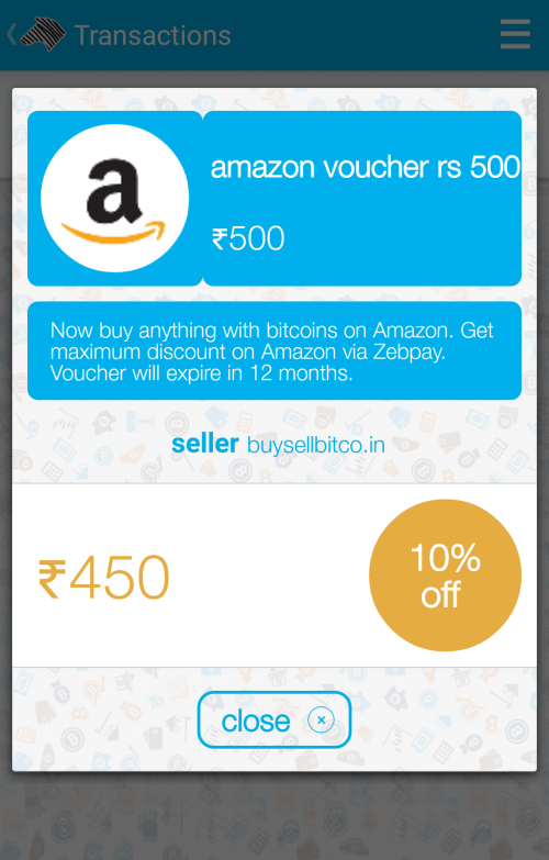 Buy amazon india vouchers at 10 off zebpay blog another first for india now buy amazon india vouchers with bitcoins at 10 off via zebpay ccuart Gallery