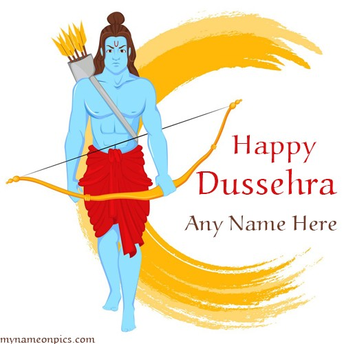 Write name on happy dussehra dasara greeting card write name on happy dussehra dasara greeting card m4hsunfo