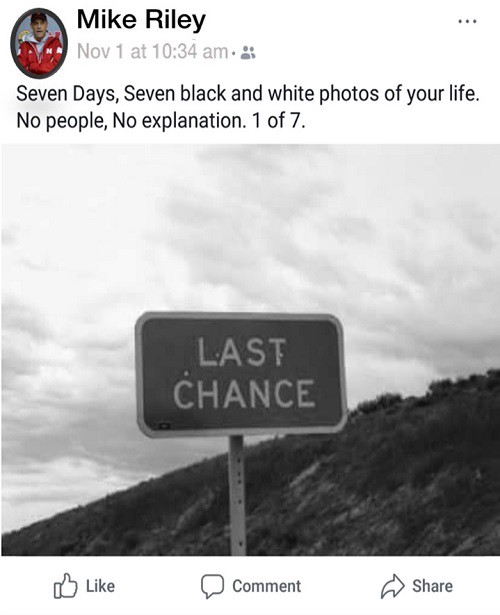 Black And White Photo 7 Days Facebook