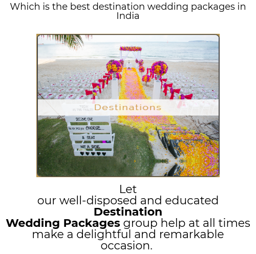 Than With Your Family And Companions Obviously Prospective Life Partner Destination Wedding Packages Can Demonstrate An Extraordinary Time To