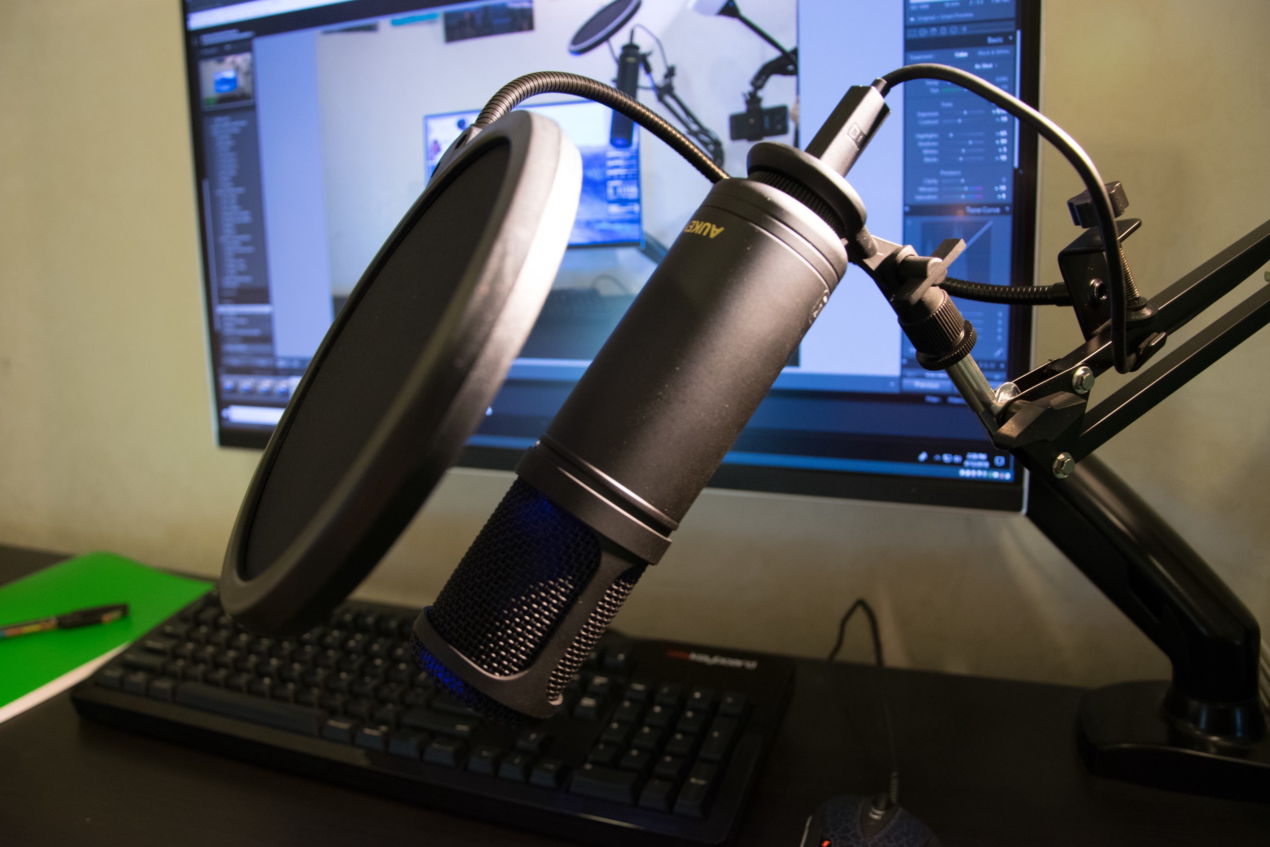 entry condenser mic with pop protection