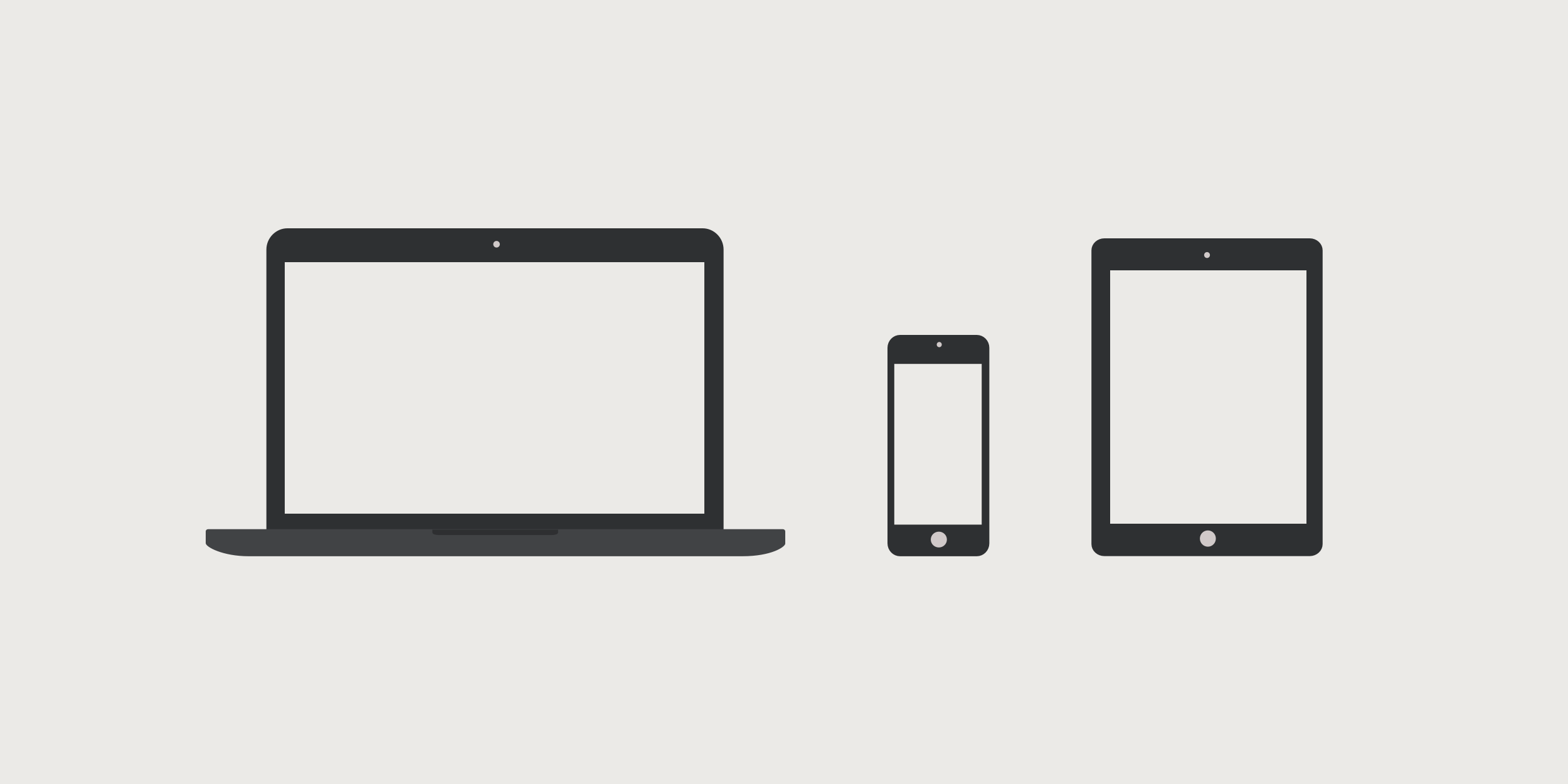Three devices with different screen and viewport sizes