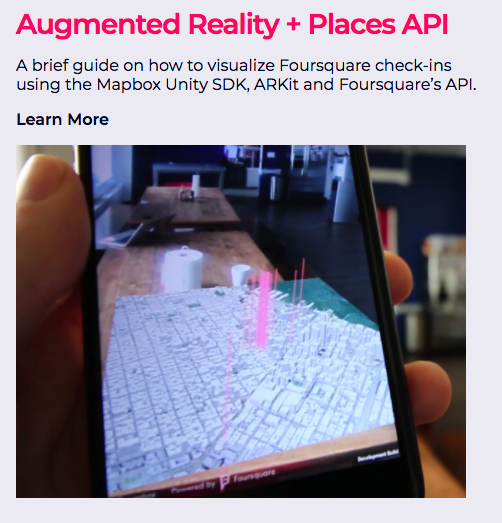augmented reality + Foursquare Places API