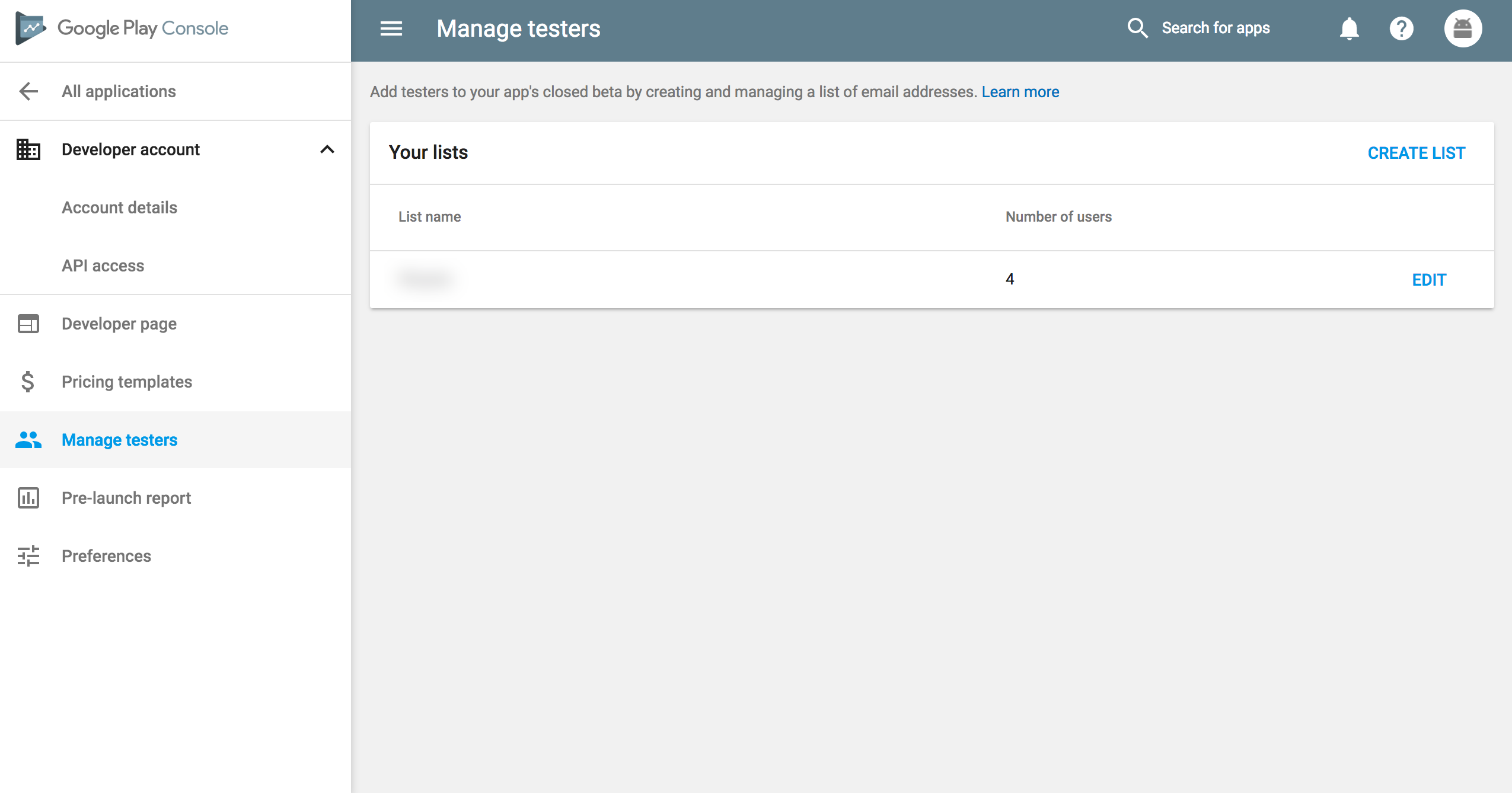 Manage your testers that can access your IAP products