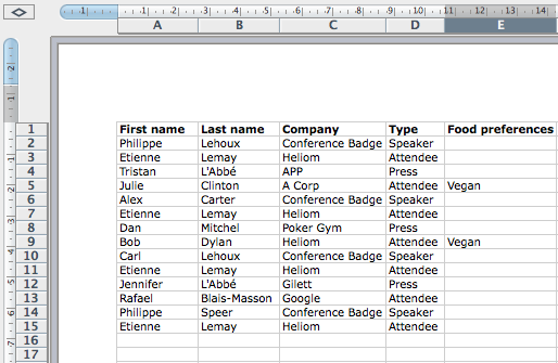 How To Create And Print Name Badges From An Excel Spreadsheet. Create An Excel File With All Your Attendees. Worksheet. Show Worksheet Name Excel At Clickcart.co