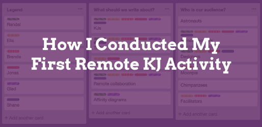 How I Conducted My First Remote KJ Activity
