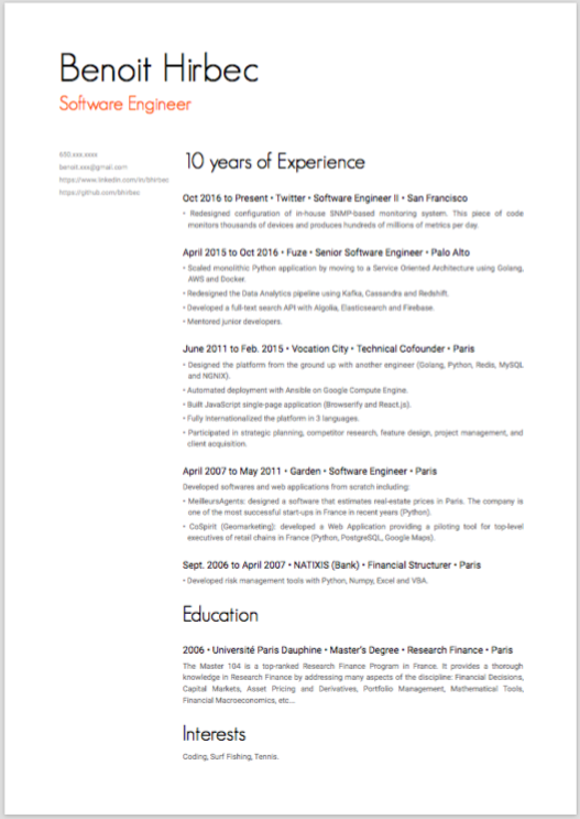effective one page resume - 2 Page Resume