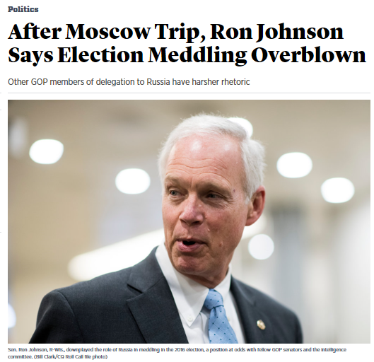 senator ron johnson wisconsin who went to russia this past july 4