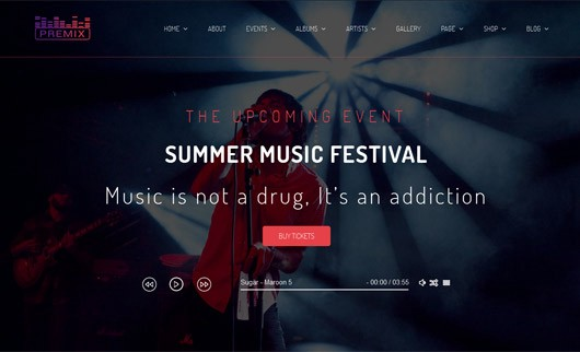 50+ Best Music Templates and Themes in HTML 2018 – Krissanawat ...
