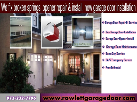 Call Us 9722327796 For Garage Door Opener System Repair