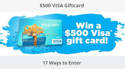 enter to the 500 visa giftcard giveaway and chance to win 500 visa gift card - 500 Visa Gift Card