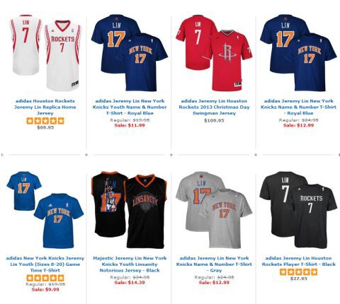 Linsanity is On Sale. (Media Influency is Temporary)